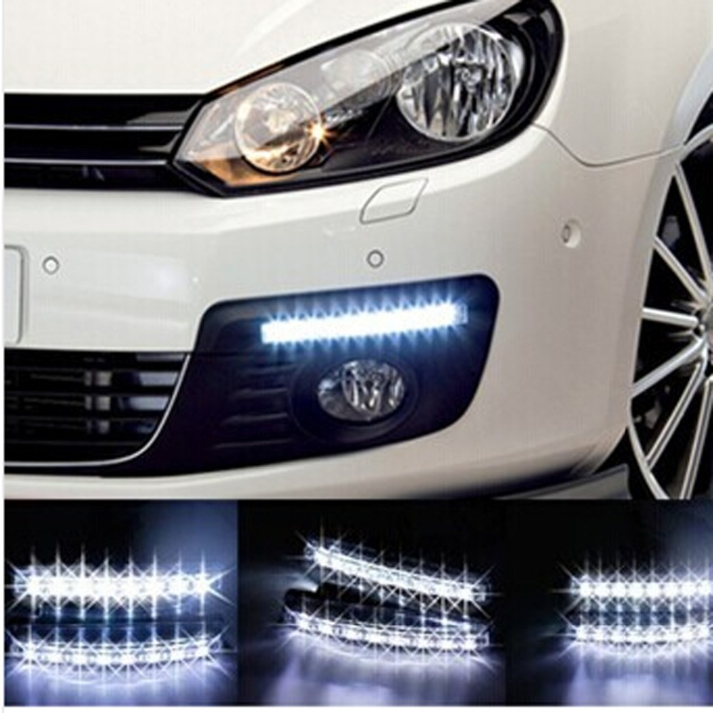 2pcslot super white 8 led daytime running lights drl light bar 2pcslot super white 8 led daytime running lights drl light bar parking car fog aloadofball Choice Image