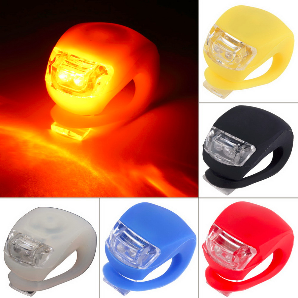 Bicycle Light Sports & Entertainment 1pc Silicone Bike Accessories Bicycle Head Light Front Rear Wheel Light Led Flash Safety Light Silicone Cycling Lamp New