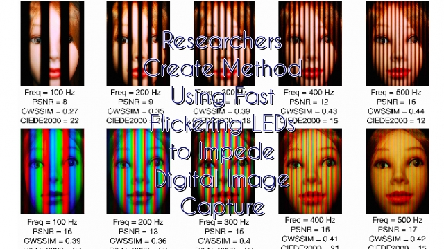 Researchers Create Method Using Fast Flickering LEDs to Impede Digital Image Capture